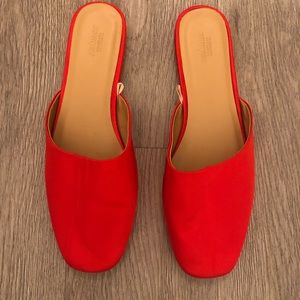 Never been worn red ballet flats